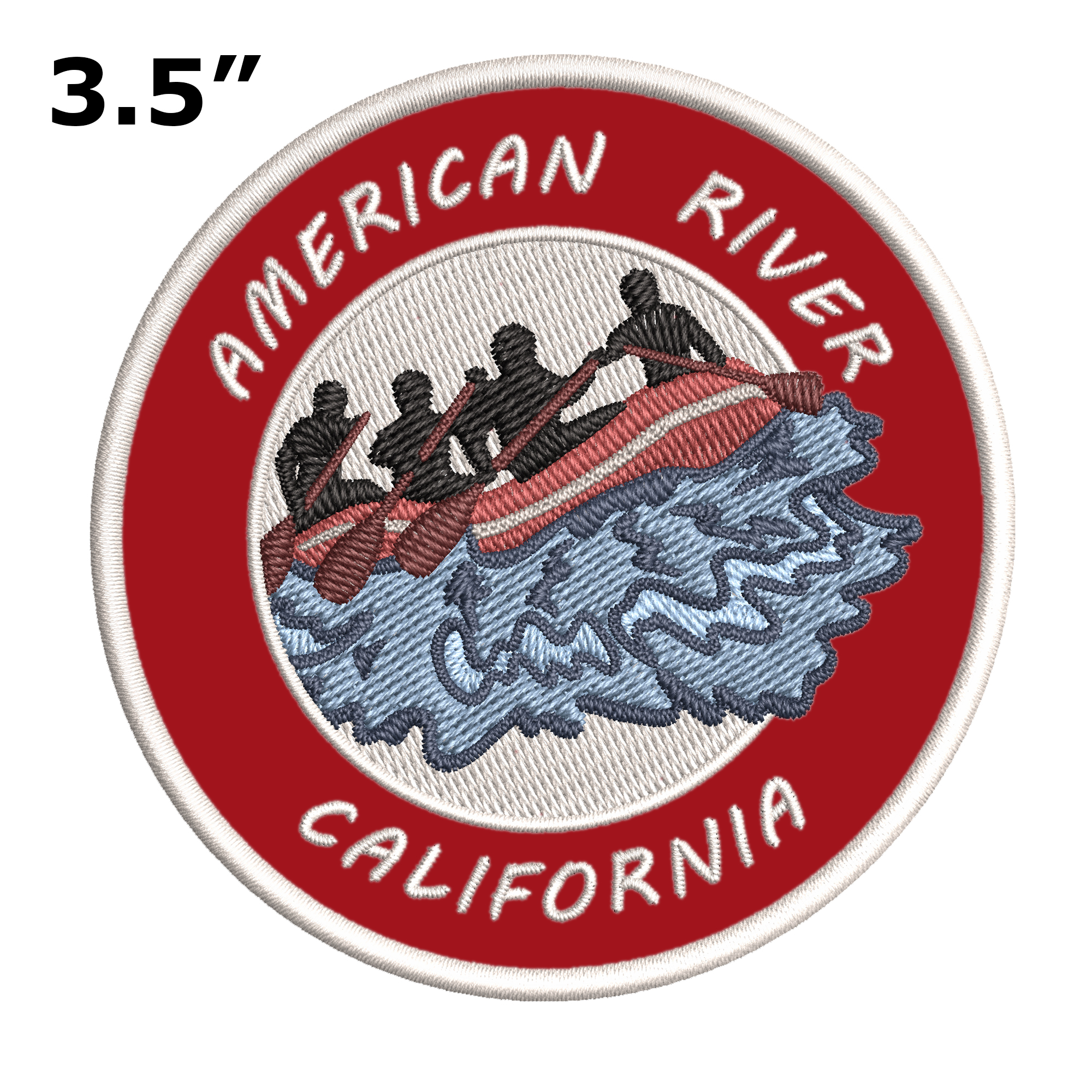 """California 3.5/"""" Embroidered Iron or Sew-on Patch American River"""
